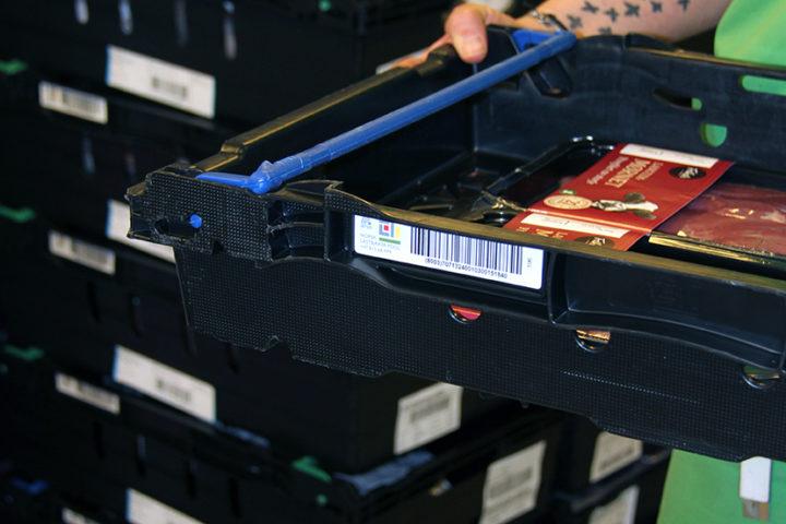 Eksponering av varer i NLP Plastkasse